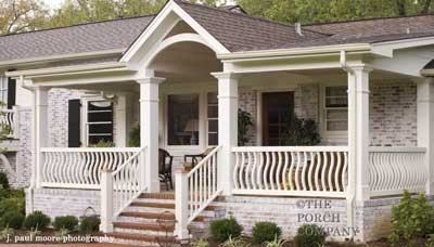 custom designed front porch