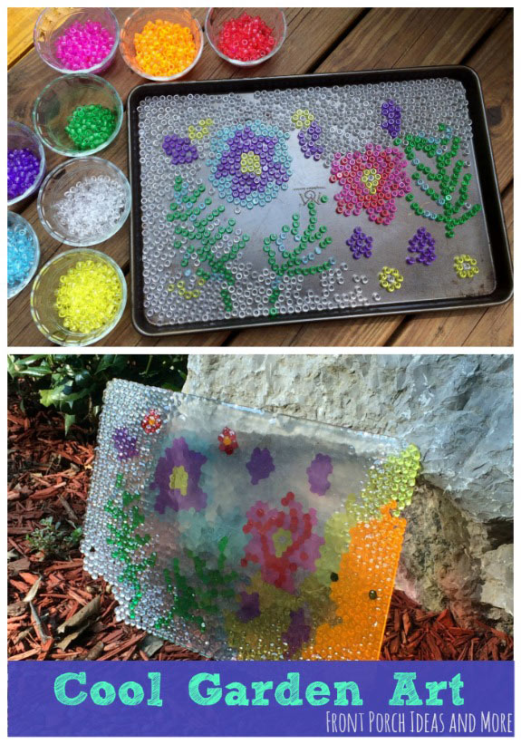 Cool garden art - kind of a spin on watercolors and stained glass. Do you like it?