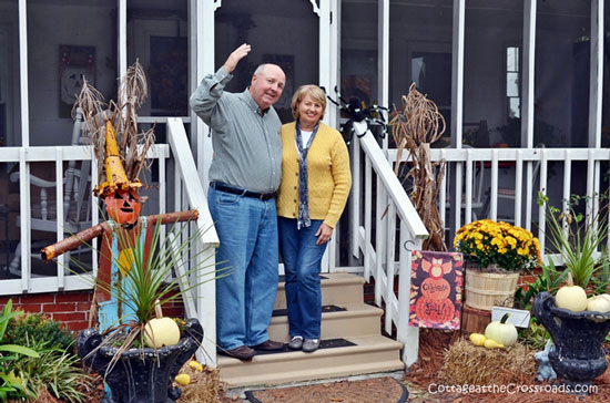 Cottage at the Crossroads Fall Porch Tour