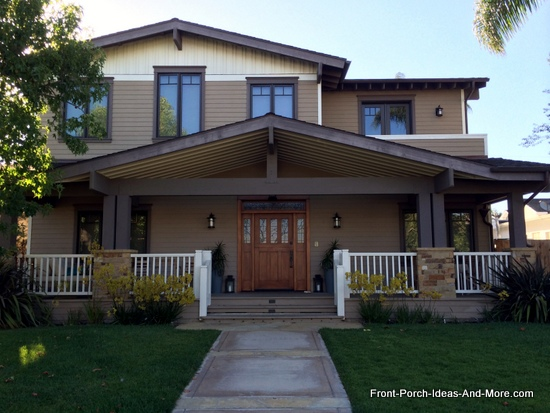 open gable style porch roof in Newport Beach California