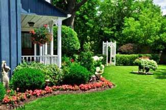 Landscaped Porch