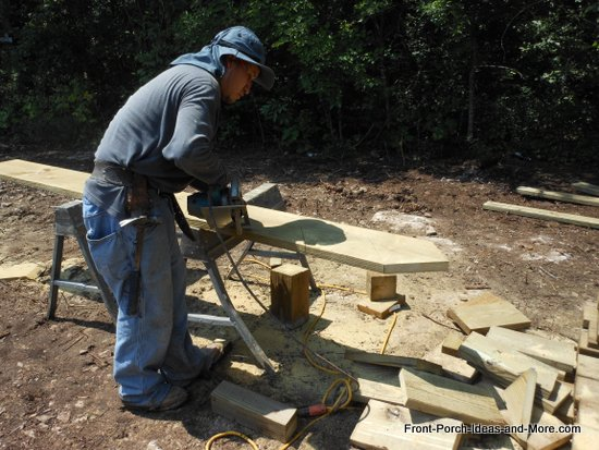 cutting stringers for deck steps