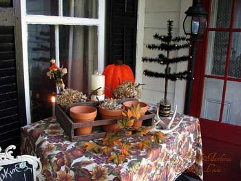 table decorated for autumn