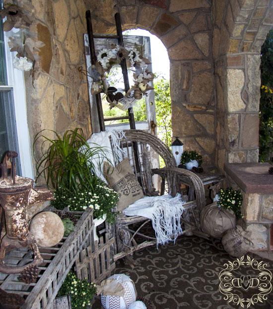 exquisite rock porch