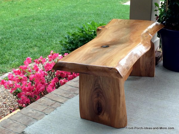 cherry wooden garden bench