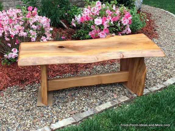 beautiful diy garden bench for yard or porch