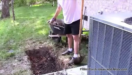 french drain trench