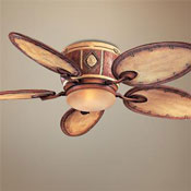 Bamboo bladed exterior ceiling fan from Lamps Plus