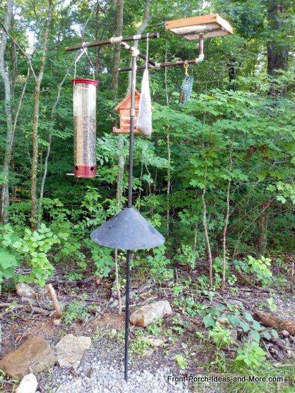 finished wild bird feeding station