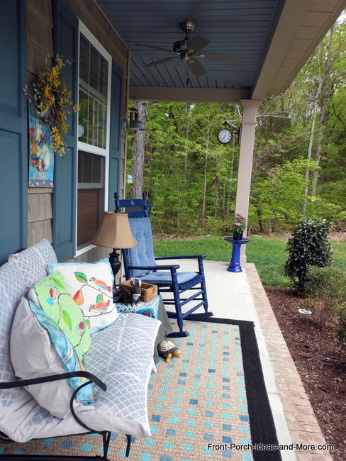 finished painted porch rug