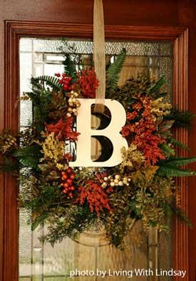 Fall front door wreath