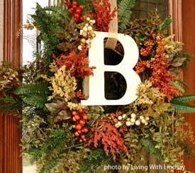 autumn front door wreath