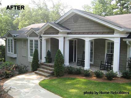 Home Rebuilder's After Porch Renovation