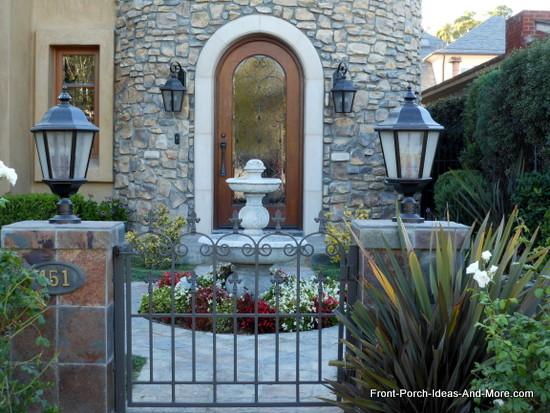 porch ornamental iron gate entrance to home