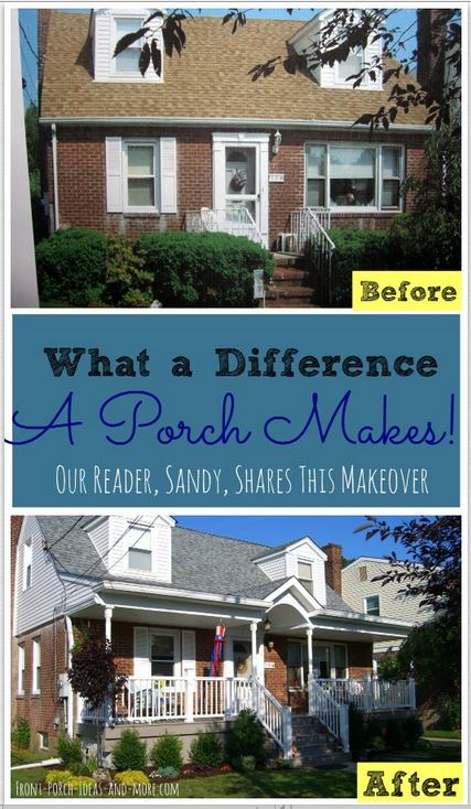 Our reader, Sandy, shares how her CapeCode house was transformed with the addition of a new porch