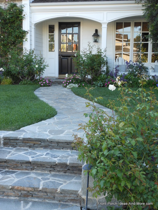 colorful and exquisite front yard landscaping