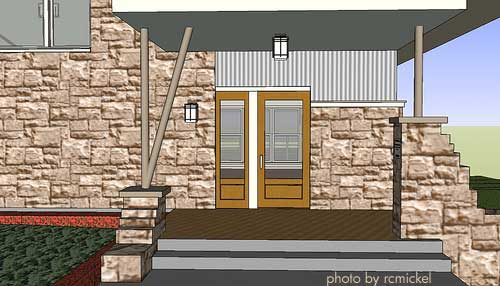 Conceptual drawing of front porch