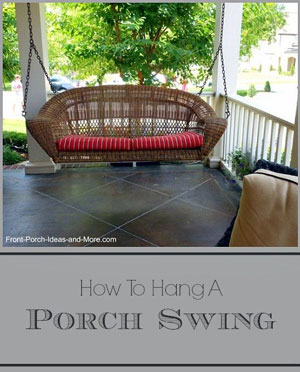 graphic depicting how to hang a porch swing