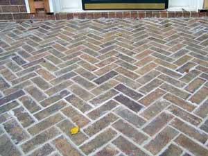 herringbone pattern on porch floor