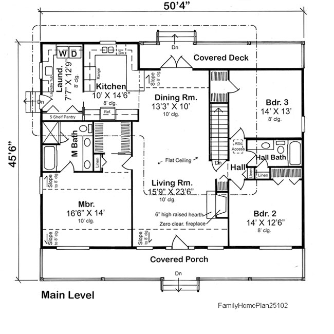 home floor plan 25102 from Family Home Plans
