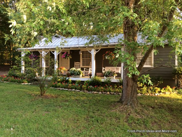A rocking chair porch with a delightful porch swing - most lovely and inviting