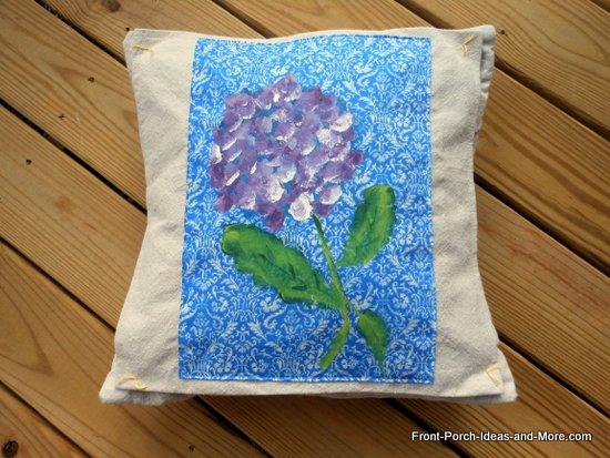 hydrangea pillow topper