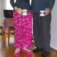 picture of couple in jammies