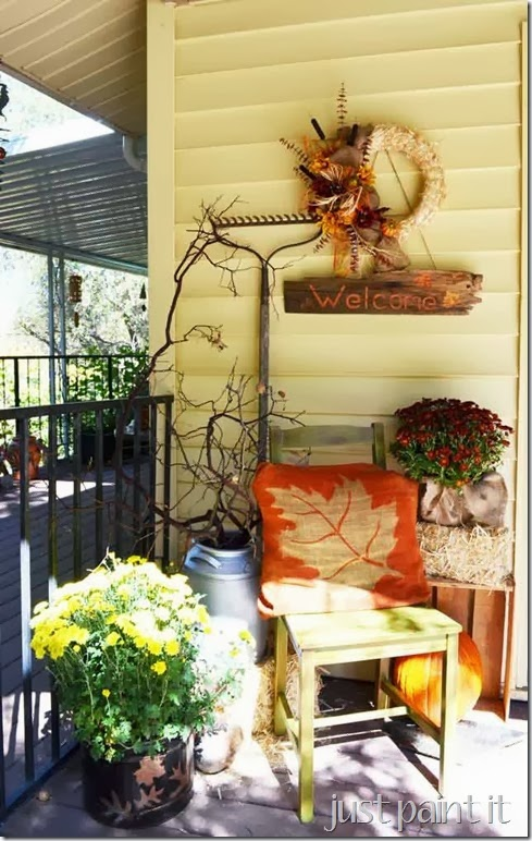 Just Paint It Fall Porch Tour
