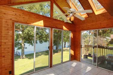 Installing fans will keep your four season porch cooler
