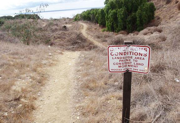 landslide are at Portuguese Point, Palos Verdes California