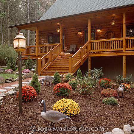 Picturesque Log Home
