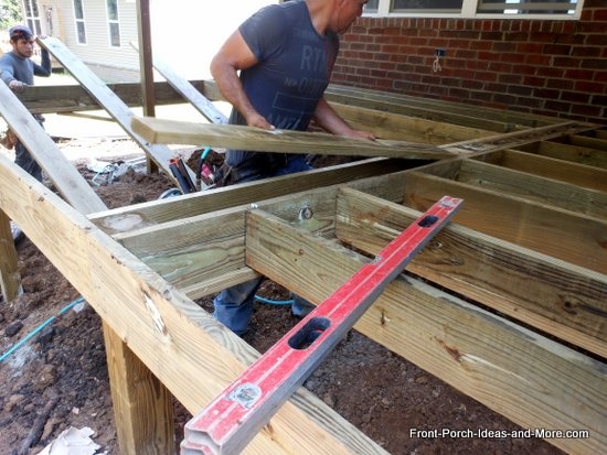 blocking added to secure mid-rim joists