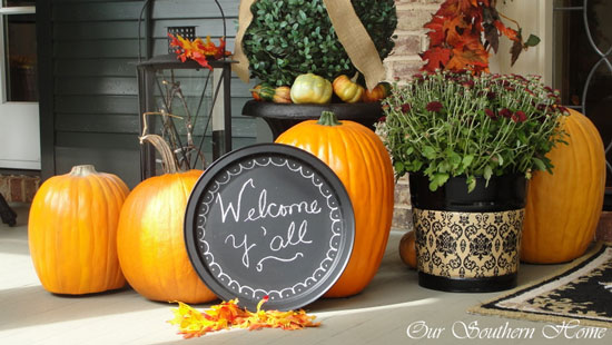 Our Southern Homes Fall Front Porch