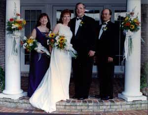 Outdoor wedding - the wedding party