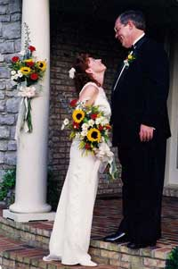 Outdoor wedding - the Bride and Groom