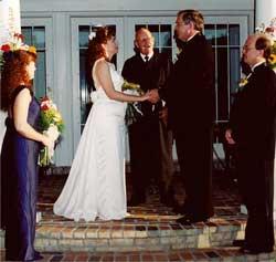 Outdoor wedding - the ceremony