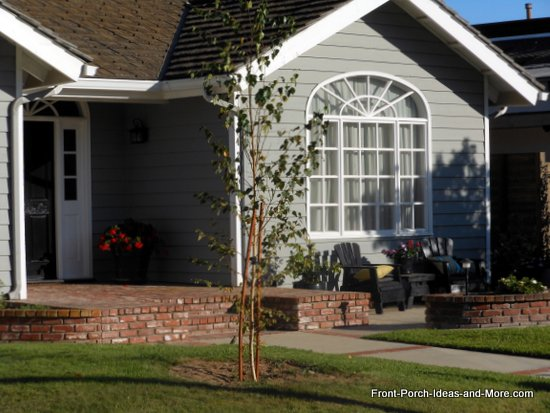 A fine example of adding a patio to extend your porch