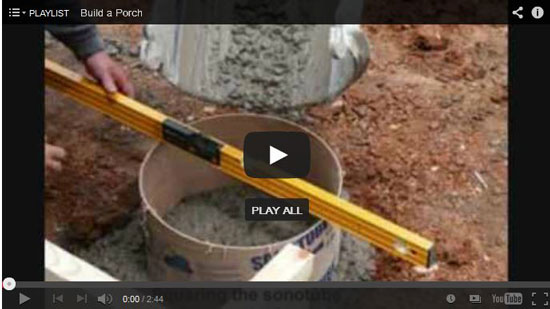 video of pier construction