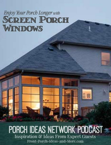 Podcast: Sean Laker shares about the versatility of adding screen porch windows to your porch to turn it into a 3-season room. No more taking out screens and lugging out the storm windows when winter arrives.