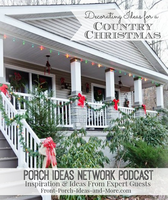 front porch pin decorated with Christmas wreaths