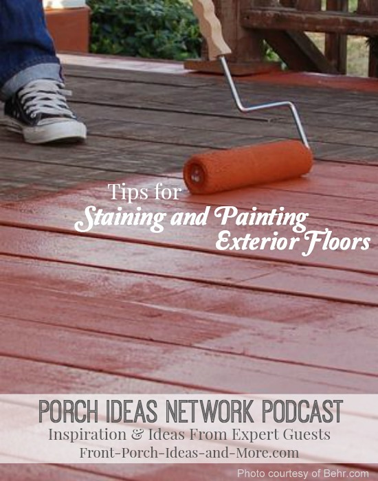 Audio Program with our guests from Behr talk about exterior stain and paint tips especially for your porch, patio and deck floors. Come take a listen!