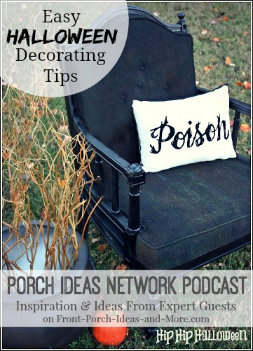 Jennifer Davenport loves Halloween and she shares how her family makes this a memorable and fun holiday. She gives us Halloween decorating ideas for your porch and home that are creative and just-a-little spooky. Her Halloween decor is mostly for fun and delight!