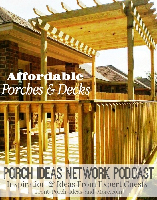 Bradley Johns of Ready Decks tells us how he builds affordable porches and decks. They are suited for both mobile homes as well as traditional homes. Bradley has developed systems for not only porches and decks, but also stairs and ramps. Listen to our informative discussion to get ideas for your own porch!
