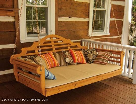 porch bed swign by porchswing.com