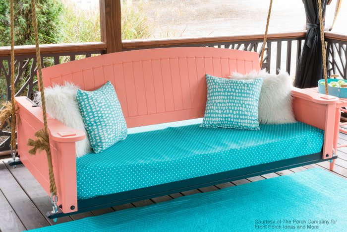 adjustable swing bed in cellular pvc painted a beautiful pink