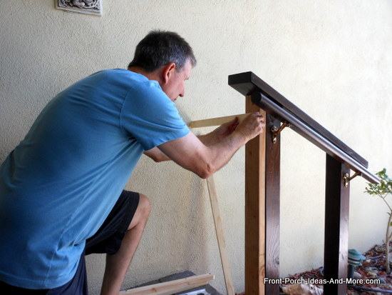 attaching 2x4 and top rail to newell post