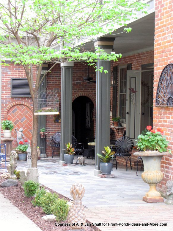 porch and patio combination on home in madison indiana