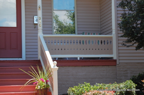 sawn baluster for privacy