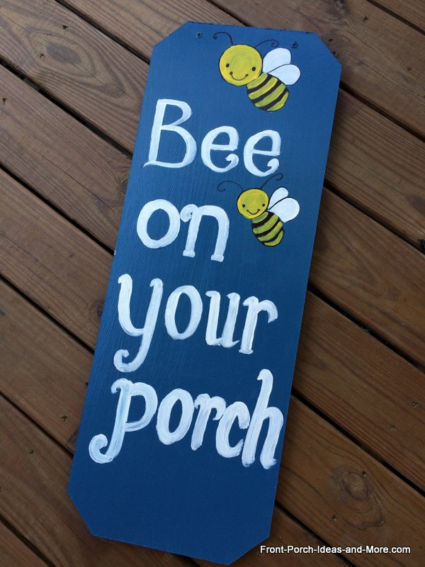 Added some bumble bees to the sign