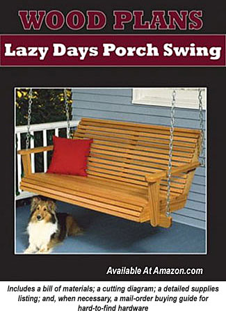 Wooden porch swing plan